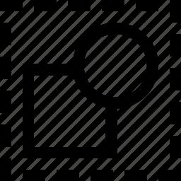 circle, deselect, design, dotted, shape, square icon