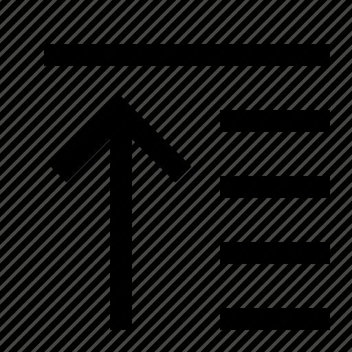adjustment, alignment, move, raise, tool, top icon