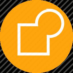 merge, mix, object, path, shape, tool, union icon