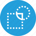 intersect, intersection, object, path, remove, shape, tool icon
