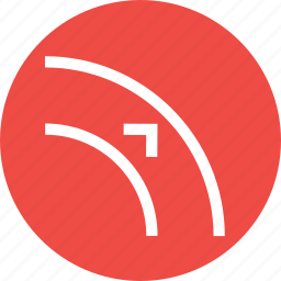 adjust, arrow, border, curve, object, outset, path icon