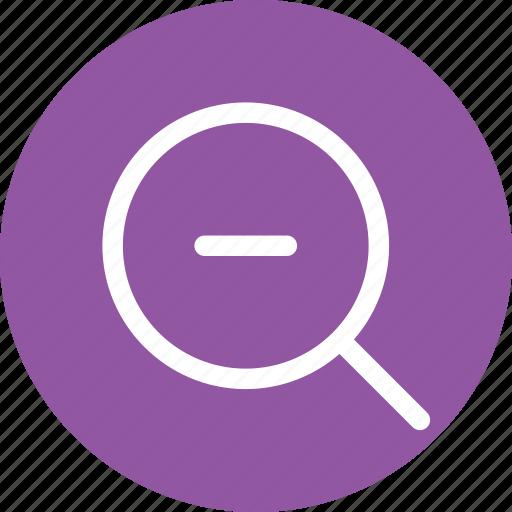 decrease, find, minimize, search, small, tool, zoom icon