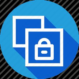 copy, document, file, lock, private, safe, window icon