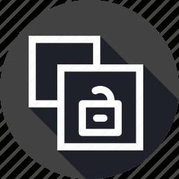 clone, copy, document, file, paper, unlock, unsafe icon