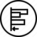 align, alignment, edges, left, object, tool