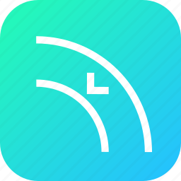 adjust, arrow, border, curve, inset, object, path icon