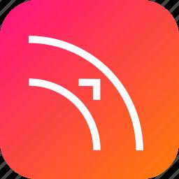 adjust, arrow, border, curve, object, outset, path icon