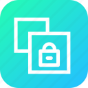 copy, document, lock, paper, private, safe, window icon