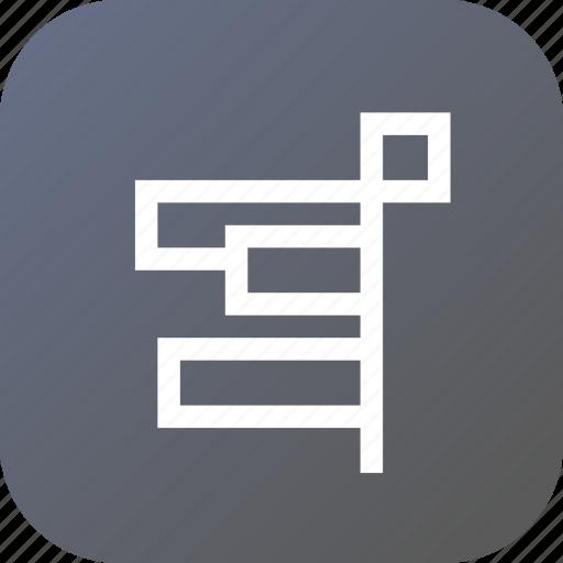 align, alignment, anchor, edge, left, object, right icon