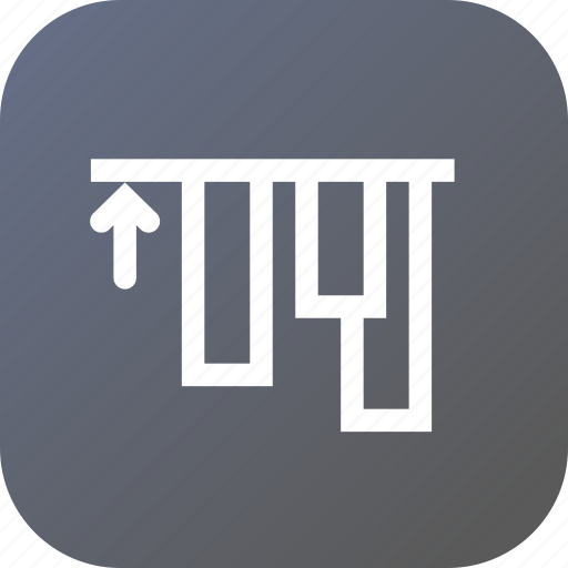 align, alignment, edges, tool, top, up icon