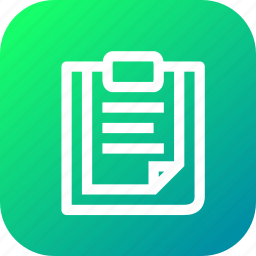 clipboard, document, file, files, paste icon