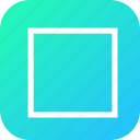 create, design, rectangle, select, shape, square, tool icon