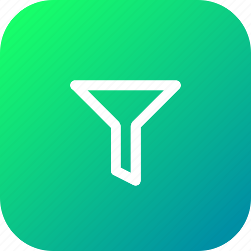conversion, editor, filter, funnel, leads, tool icon