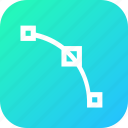 curve, edit, node, nodes, path, point, tool icon