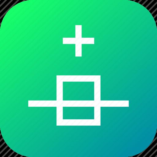 add, insert, new, nodes, plus, segment, select icon