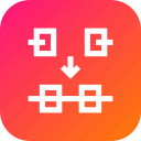endnode, join, merge, new, node, point, segments icon