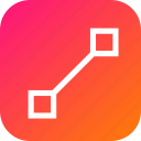 line, lines, make, point, segment, select, tool icon