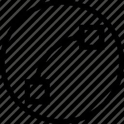 curve, make, point, segment, segments, select icon