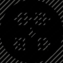 delete, endpoint, node, remove, segment, tool, two icon