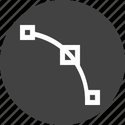curve, edit, node, nodes, path, point, tool icon