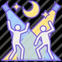 dancing, moon, music, rage icon