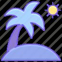 palm, summer, sun, tropical