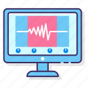 audio, digital, frequency, monitor icon