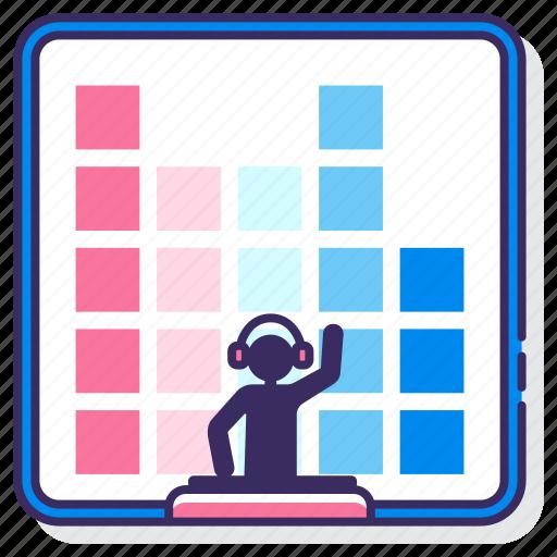 analytics, chart, dj, edm icon