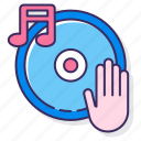 electro, hand, music, spin icon