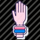 bracelet, glow, wrist, wristband icon
