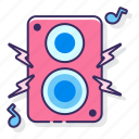 heavy, loud, music, speaker icon