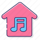 genre, house, music, note icon