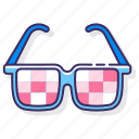 eyewear, glasses, kaleidoscope, spectacles icon
