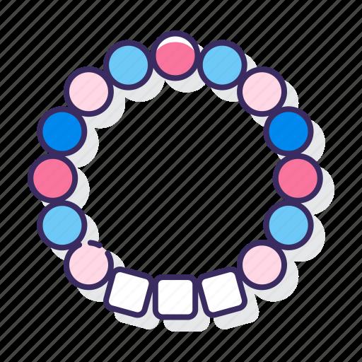 beads, bracelet, festival, kandi icon