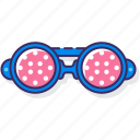 eyewear, glasses, goggles, led icon