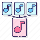 combine, mashup, mix, music icon
