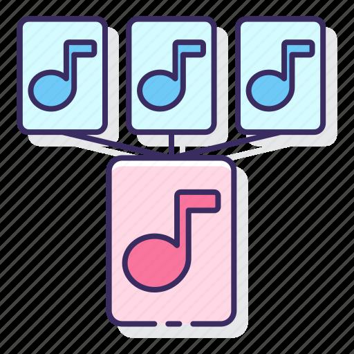 combine, mashup, mix, music icon