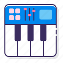 instrument, keyboard, midi, note icon