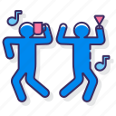 dance, duo, fun, rage icon