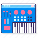 keyboard, midi, mixer, synthesizer icon