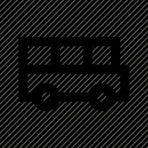 bus, education, learning, school, university icon