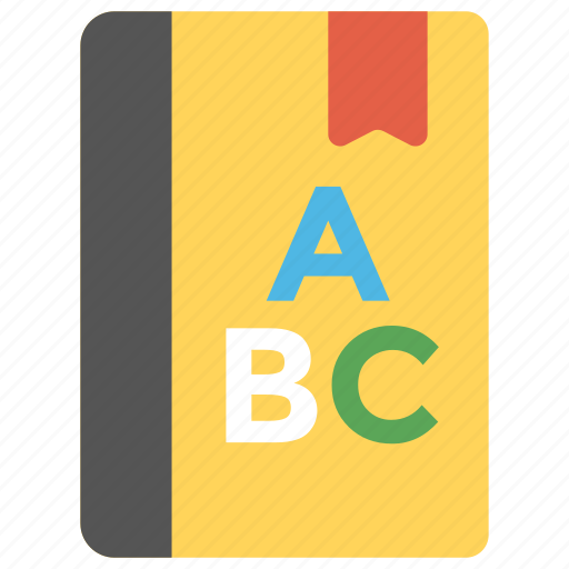 alphabets, book, dictionary, english book, notebook icon