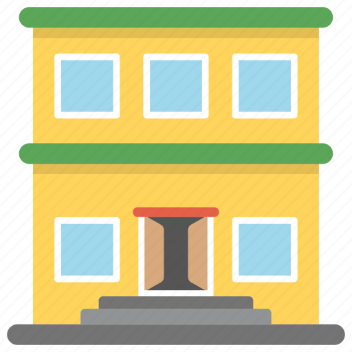 college, educational building, library, secondary school, university icon