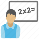 algebra, calculation, math equation, math lesson, math sum icon