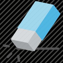 erase, eraser, rubber, school supplies, stationery icon