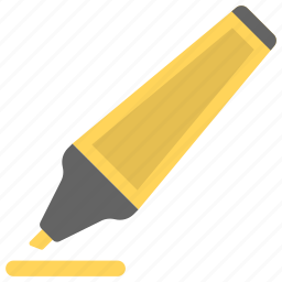 highlighter, marker, pen, stationery, writing icon