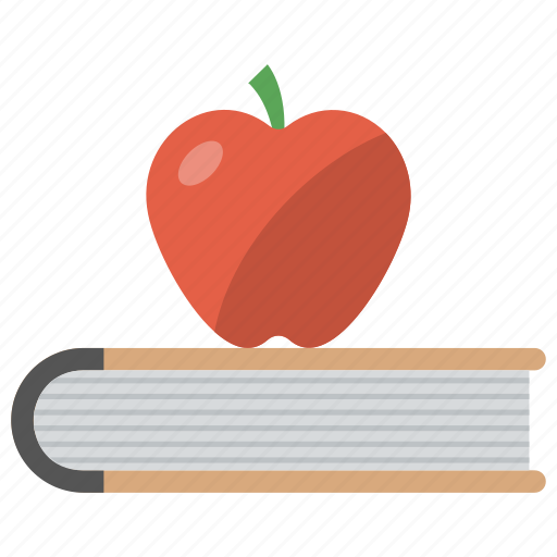 apple, back to school, book, education, knowledge icon