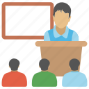classroom, classroom students, elementary school, lecture, studying icon
