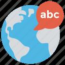 linguistics, e learning, world language, global language, global education icon