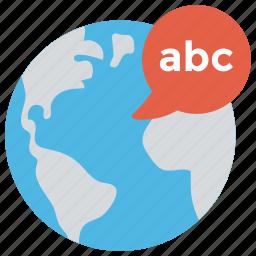 e learning, global education, global language, linguistics, world language icon